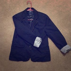 American outfitter large navy blue blazer